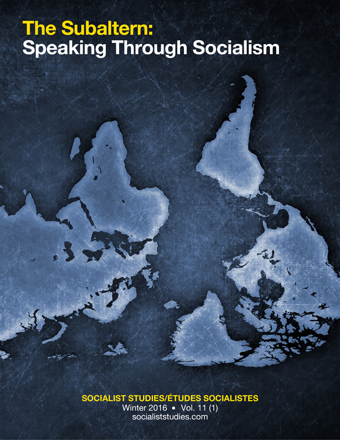 View Vol. 11 No. 1 (2016): The Subaltern: Speaking Through Socialism
